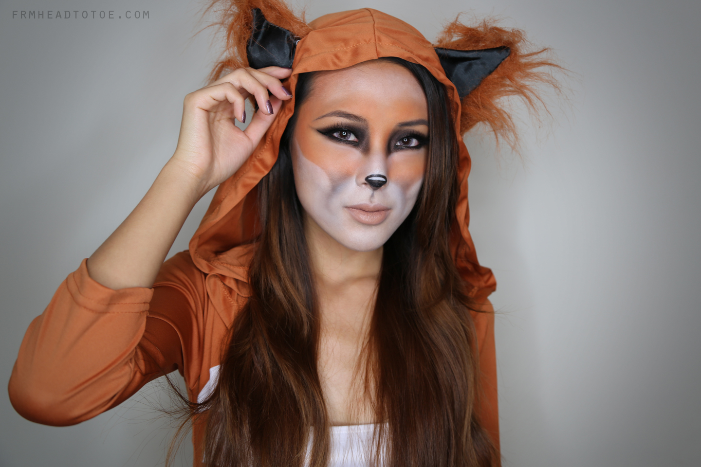 fox halloween tutorial from head to toe. Black Bedroom Furniture Sets. Home Design Ideas