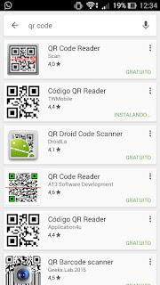 Aplicativo para leitura de QR Code