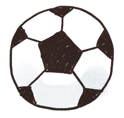 サッカーボールのイラスト(スポーツ器具)