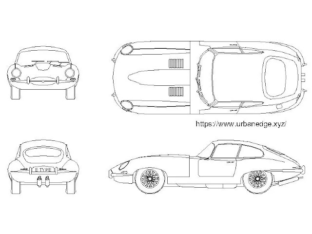 Car cad block - Jaguar e type