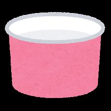 アイスのコーンのイラスト(カップ)