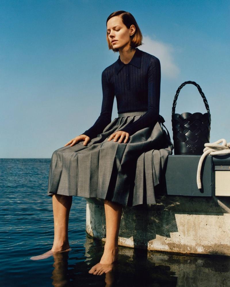 Freja Beha Erichsen fronts Prada spring-summer 2020 campaign