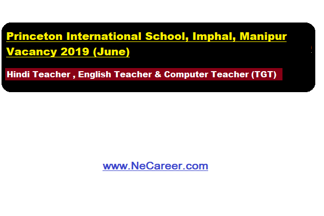 Princeton International School, Imphal, Manipur Jobs 2019 (June)