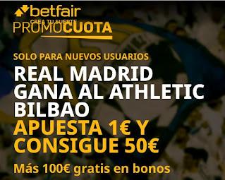 betfair promocuota Real Madrid gana Bilbao 14 enero 2021