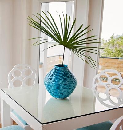 Palm Leaf in Blue Vase