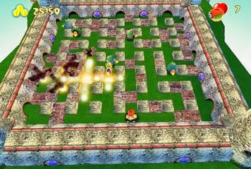 Game Bombermania: Menghancurkan Robot
