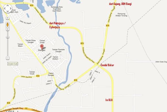 Peta Cendol Bakar @Dengkil