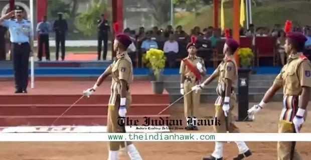 Sainik School parade NCC