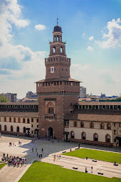 The Castello Sforzesco is one of Milan's major sights