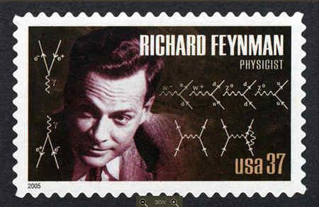 richard feynman in popular culture stamp