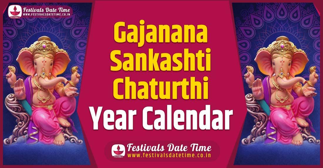 Gajanana Sankashti Chaturthi Year Calendar