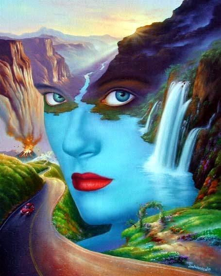 Mãe Natureza - Jim Warren pinta sonhos e ilusões de maneira fantástica.
