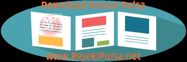 RejekiPulsa.Net Download Contoh Desain Brosur Pulsa PPOB Termurah Untuk Promosi