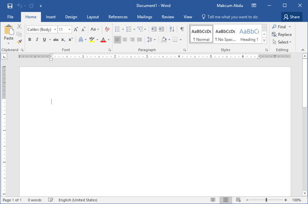 Microsoft Word 2016 Document