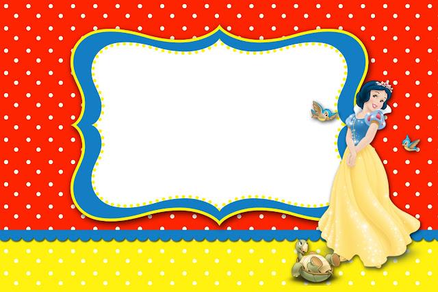 Branca De Neve Kit Completo Com Molduras Para Convites Rotulos