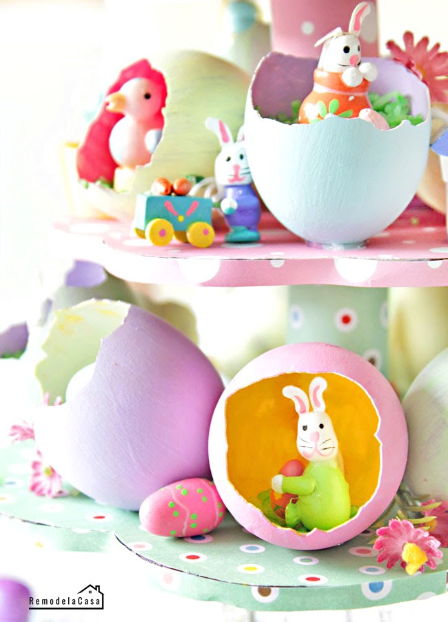 REMODELACASA | EASTER EGG TREE CENTERPIECE
