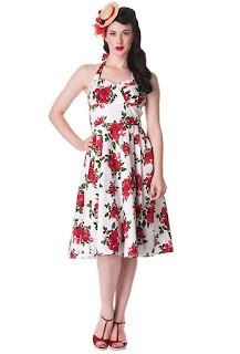 Hell Bunny Rosey Rose - Hello Gorgeous Red Roses Party Dress