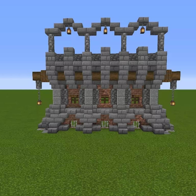 Minecraft Medieval Wall Designs