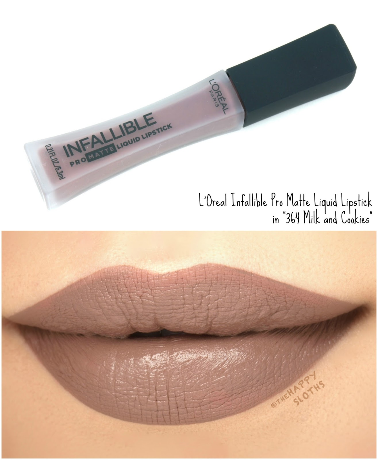 "L'Oreal Infallible Pro Matte Liquid Lipsticks in ""364 Milk and Cookies"": Review and Swatches"