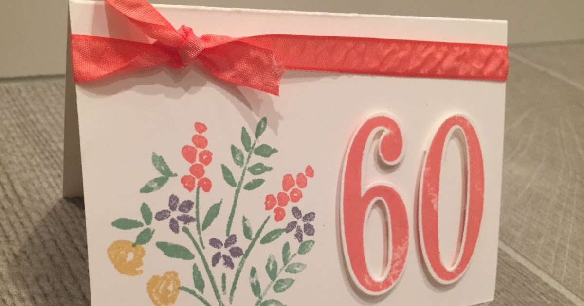 Craftycarolinecreates 60th Birthday Card Handmade Using Number Of