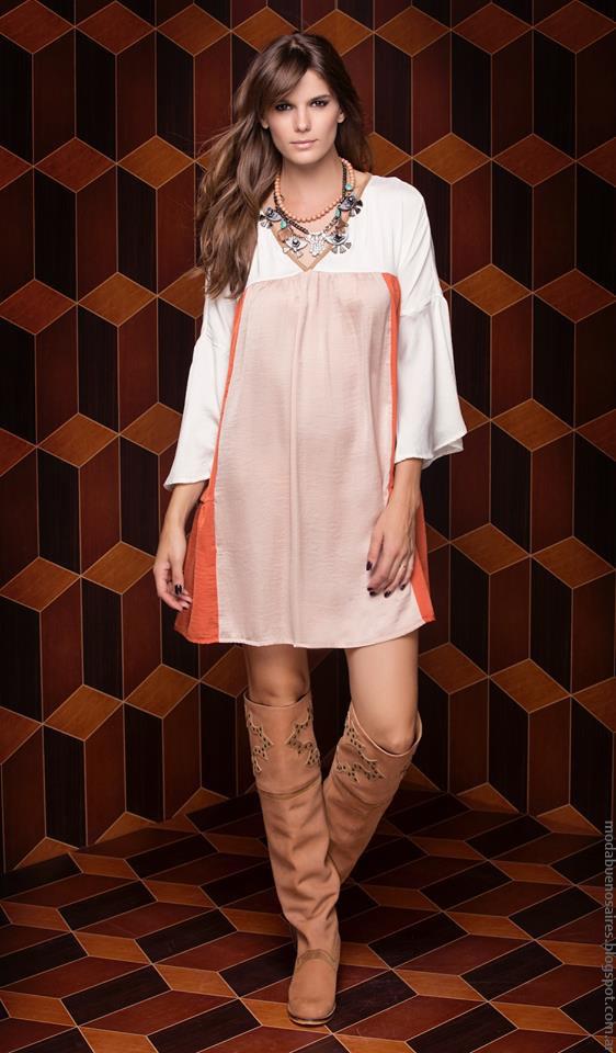 Vestido invierno 2016 ropa de moda Silvina Ledesma.