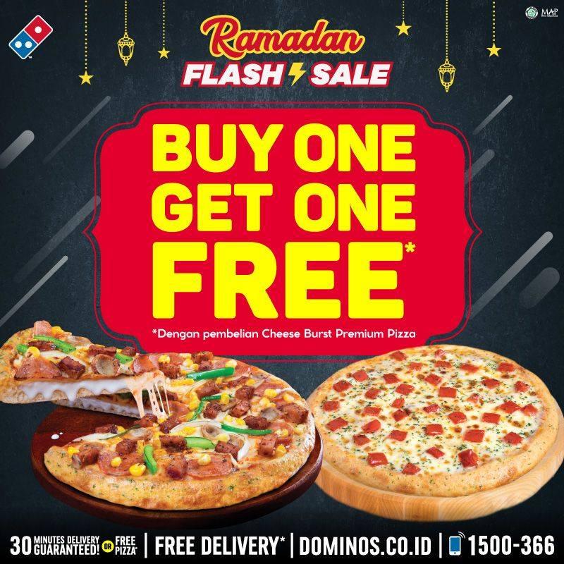Promo Domino's Pizza Beli 1 Gratis 1 Pizza Periode 21 - 25 Mei 2020