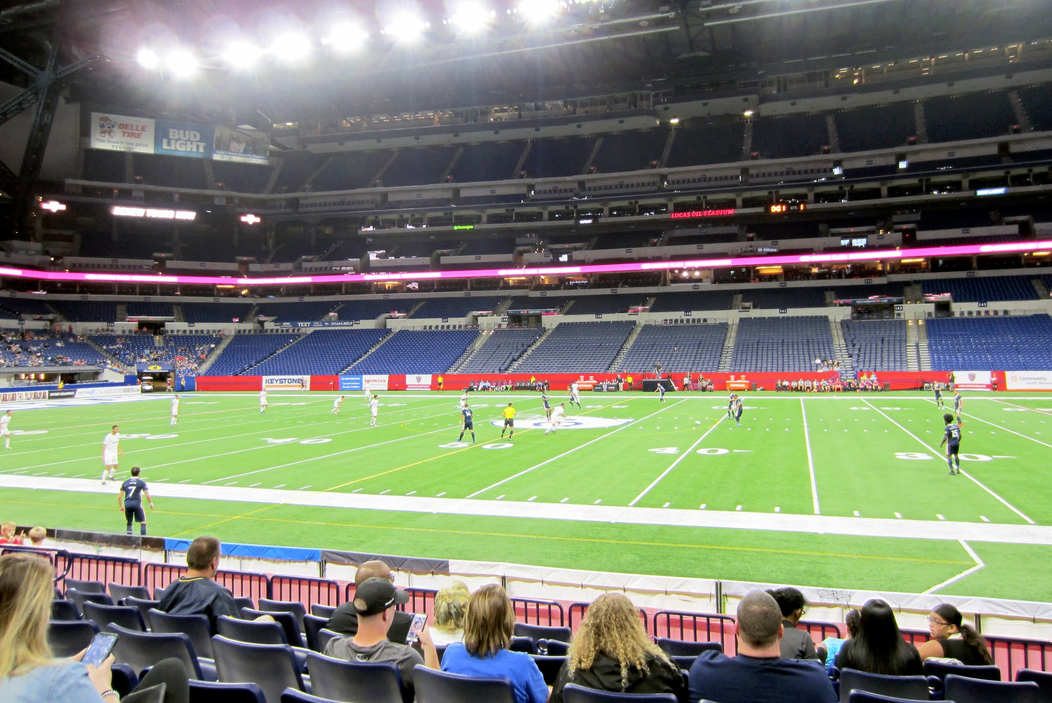 View from the East Club at Lucas Oil Stadium