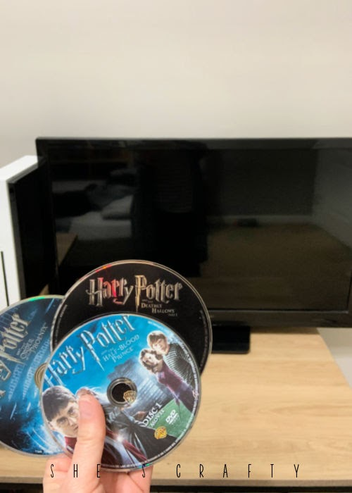 17 Happiness Ideas - watch Harry Potter movies on DVD.