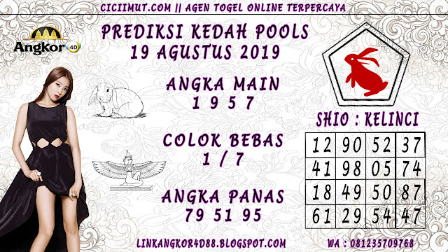 PREDIKSI KEDAH POOLS 19 AGUSTUS 2019