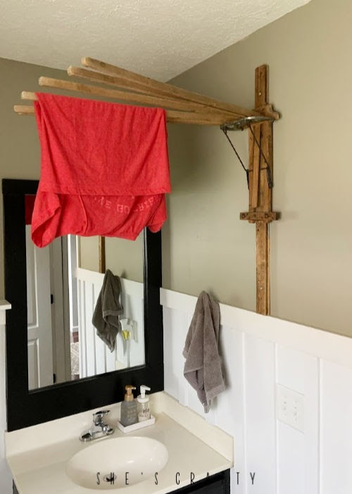 New uses for vintage goods in home decor  |  drying rack to hold hang to dry clothes