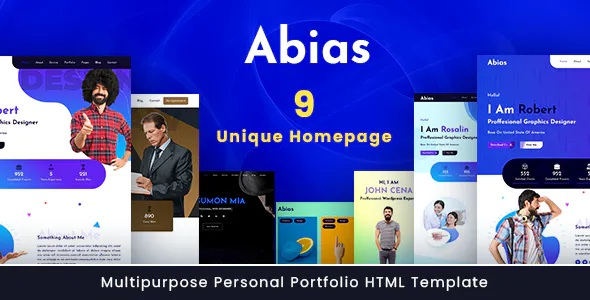 Best Multipurpose Personal Portfolio HTML Template