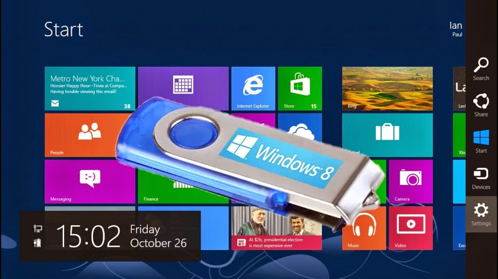 1.install%2Bwindows%2B8 How to Install Windows 8 / 7 from USB Flash Drive (Bootable USB) Technology