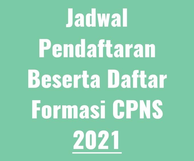 Bagi Calon Pelamar CPNS Siap-Siap ya, Ini Jadwal Pendaftaran Beserta Daftar Formasi CPNS 2021