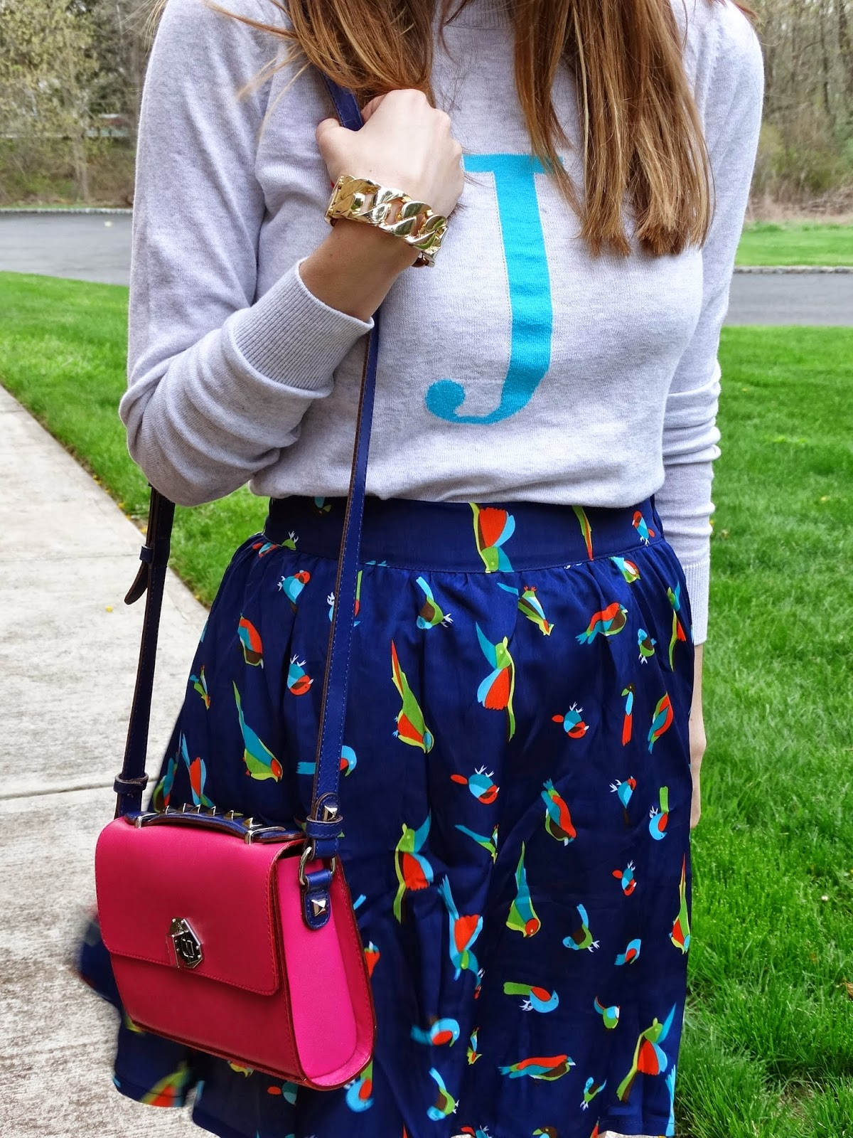 Rebecca Minkoff Bag, Old Navy Sweater, Wizards of the West Skirt - House Of Jeffers blog