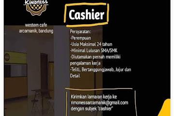 Lowongan Kerja Bandung Cashier Rimoness