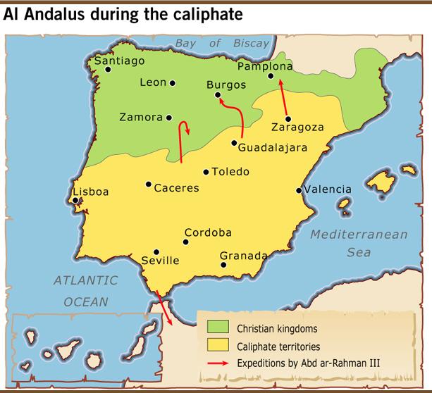 Map Of Spain 711.Mi Primer Ano En Red Xxi Al Andalus In The Iberian Peninsula Unit