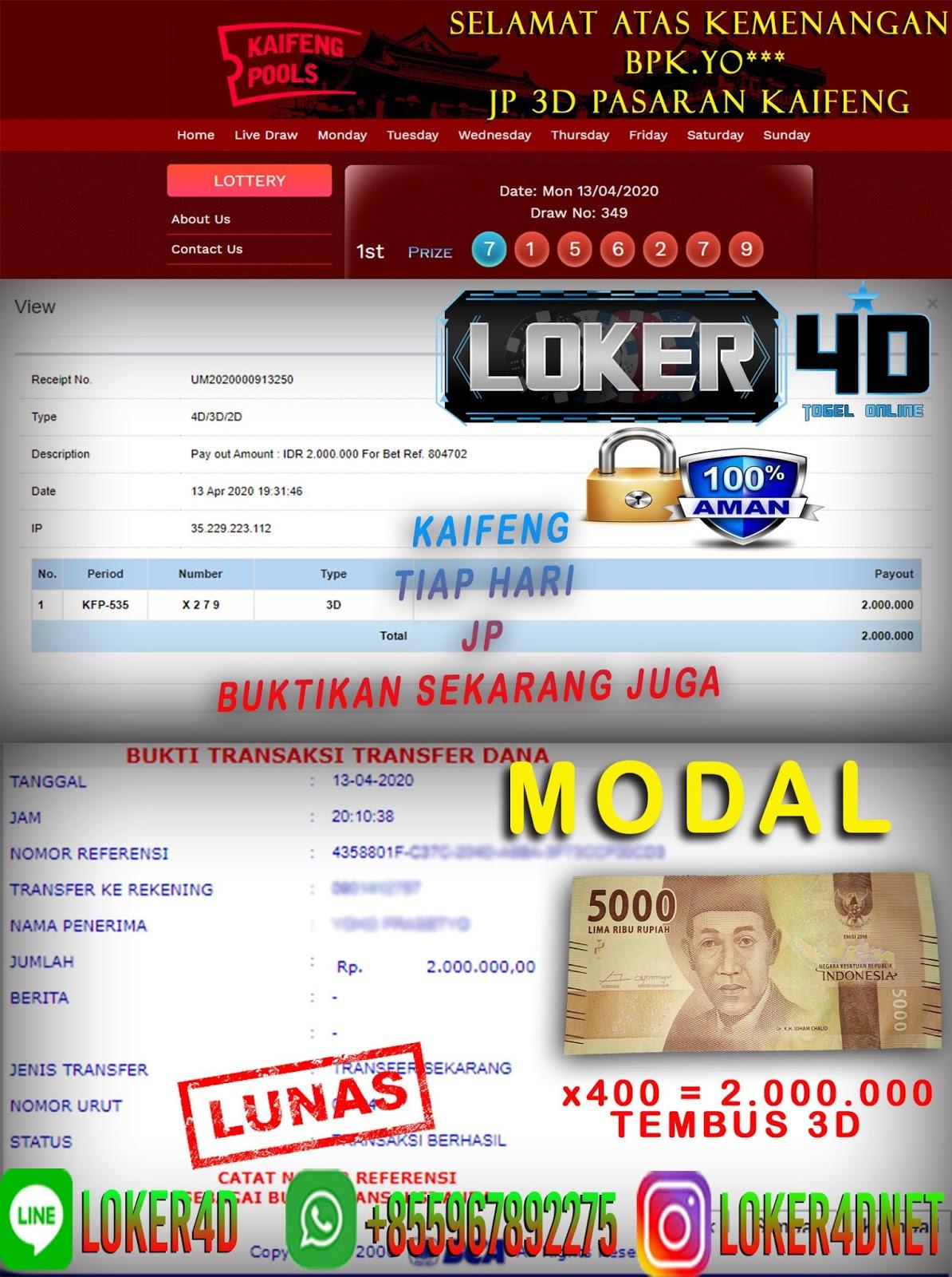 KAIFENG BAGI – BAGI JACKPOT? MODAL MINIM HADIAH MAXIMAL!!!