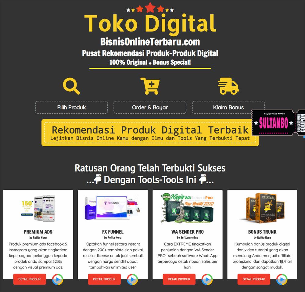 contoh toko digital bisnis online