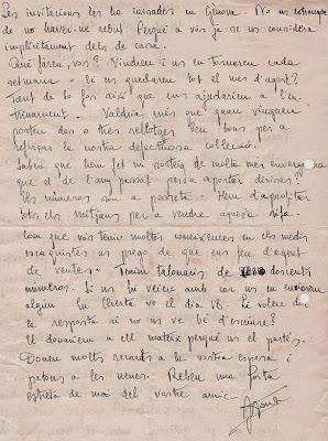 Carta firmada por el Dr. Joaquim Font a Ángel Ribera, 1951 (2)