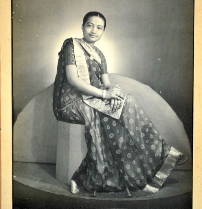 Studio Photograph of an Indian Lady in Sari