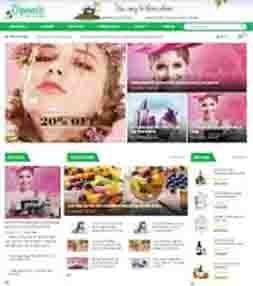 Template blogspot bán hàng mỹ phẩm thiên nhiên