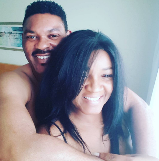 omotola jalade husband sexy bedroom photo