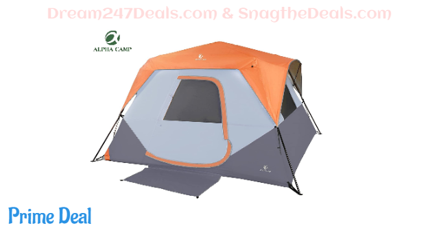 ALPHA CAMP Camping Tent 6 Person Instant Family Tent 40%OFF
