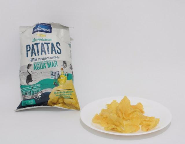 patatas fritas con agua de mar