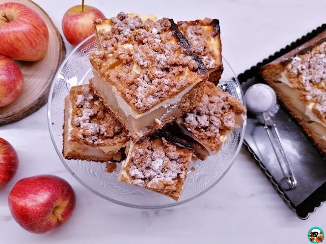 Tarta de manzanas con struesel