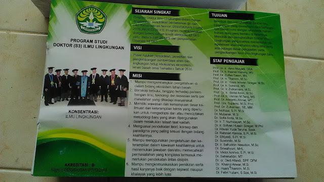 Brosur D3 Ilmu Lingkungan UNRI