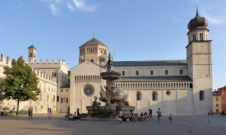 The Piazza del Duomo in Trento, the city considered one of the most attractive places to live in Italy
