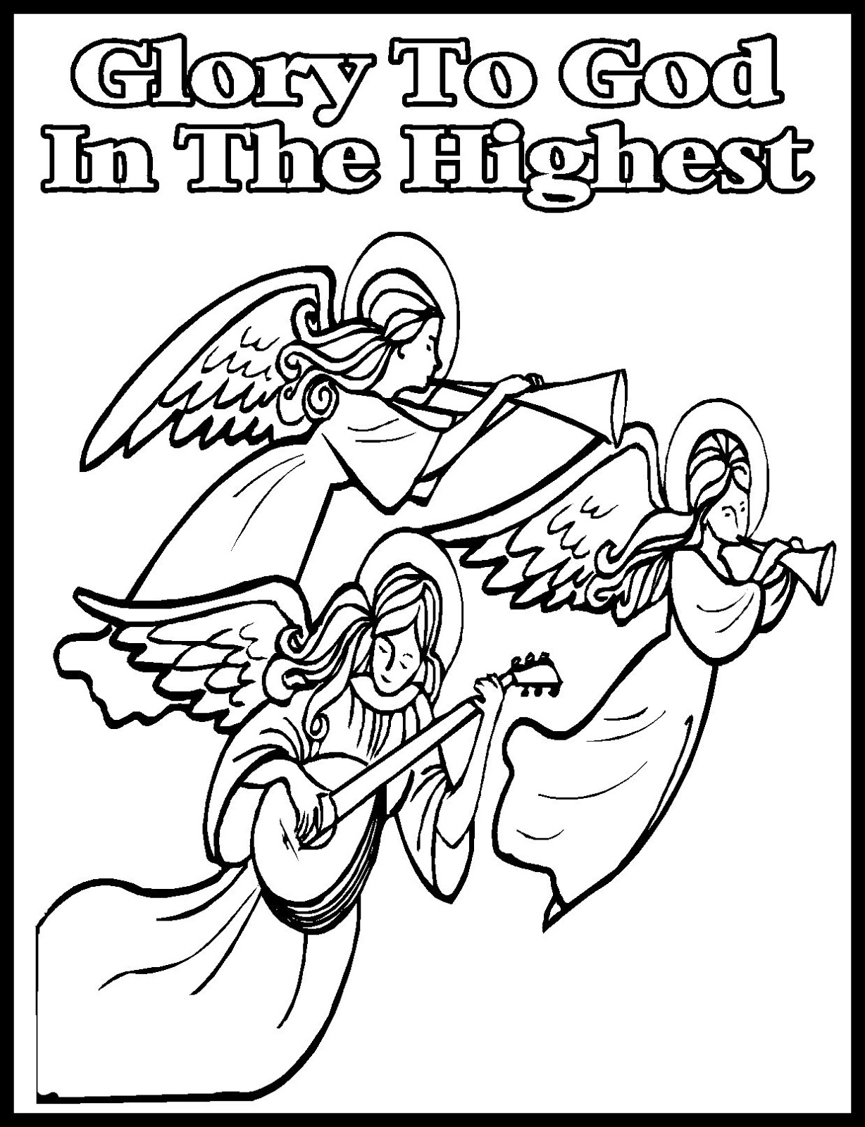 Coloring pages god ~ Children's Gems In My Treasure Box: Christmas Coloring Sheets