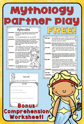 Try out a partner play for FREE!  This script is designed for 4th and 5th grade readers. It comes with a bonus comprehension sheet!