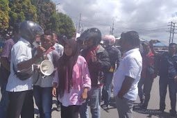 Demo Tolak Kedatangan Jokowi di Ambon, Mahasiswa Dibubarkan Paksa
